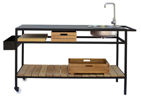 Outdoor Mobile Kitchen (Buite) with shelf