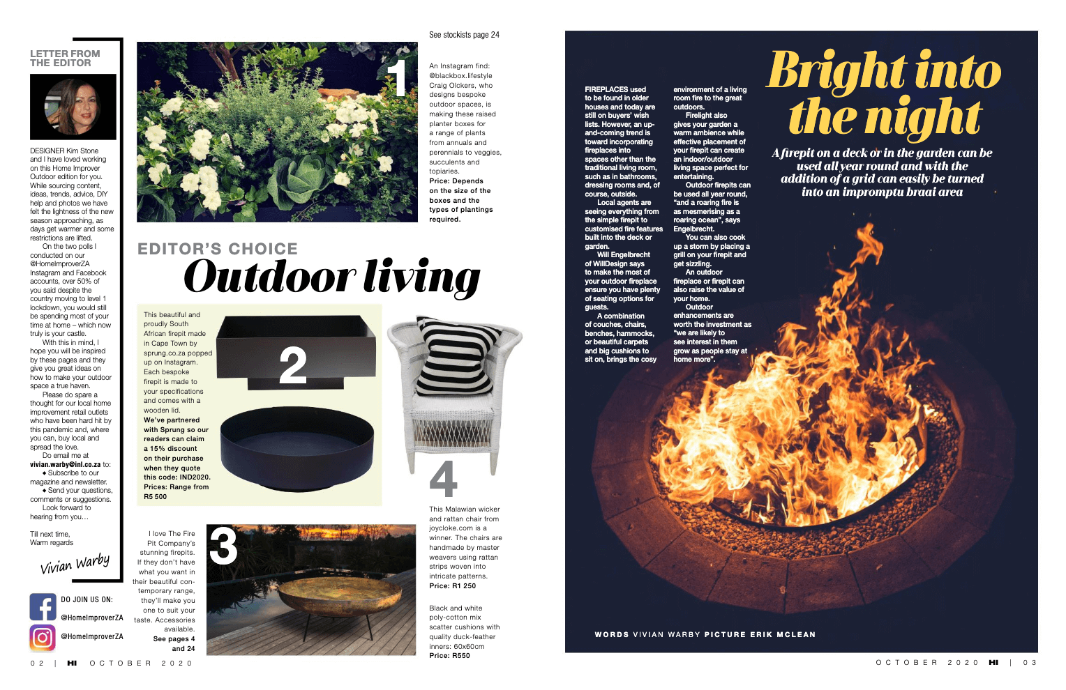 Home Improver fire pit feature