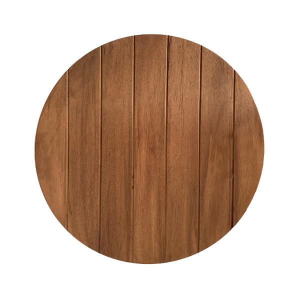 oak stain fire pit lid