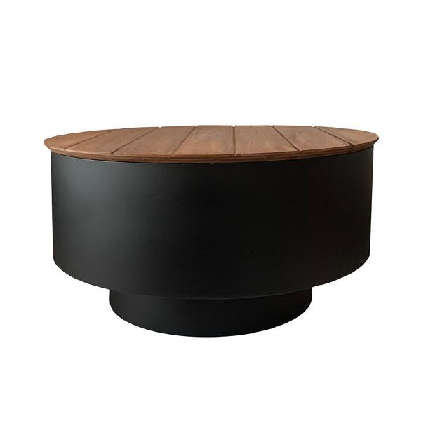 Composite wood fire pit lid